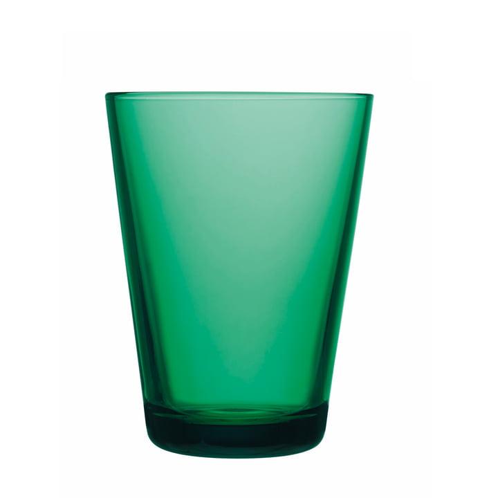 Iittala - Drinking Kartio glass 40 cl, emerald green