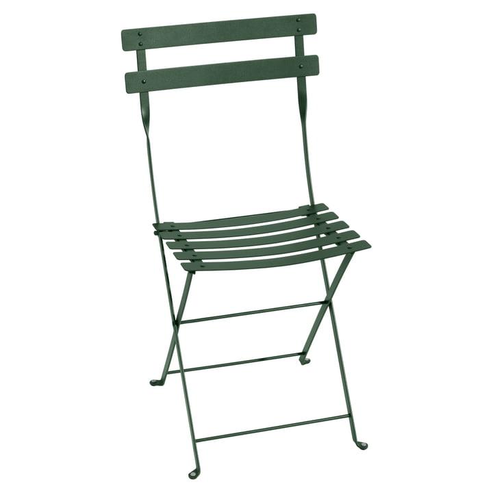 Bistro Fermob metal folding chair in cedar green