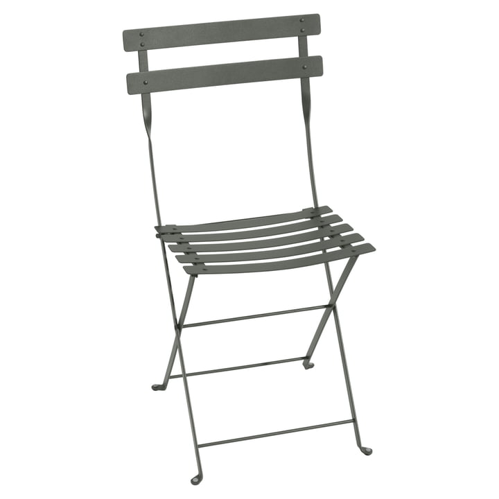 Bistro Fermob metal folding chair in rosemary