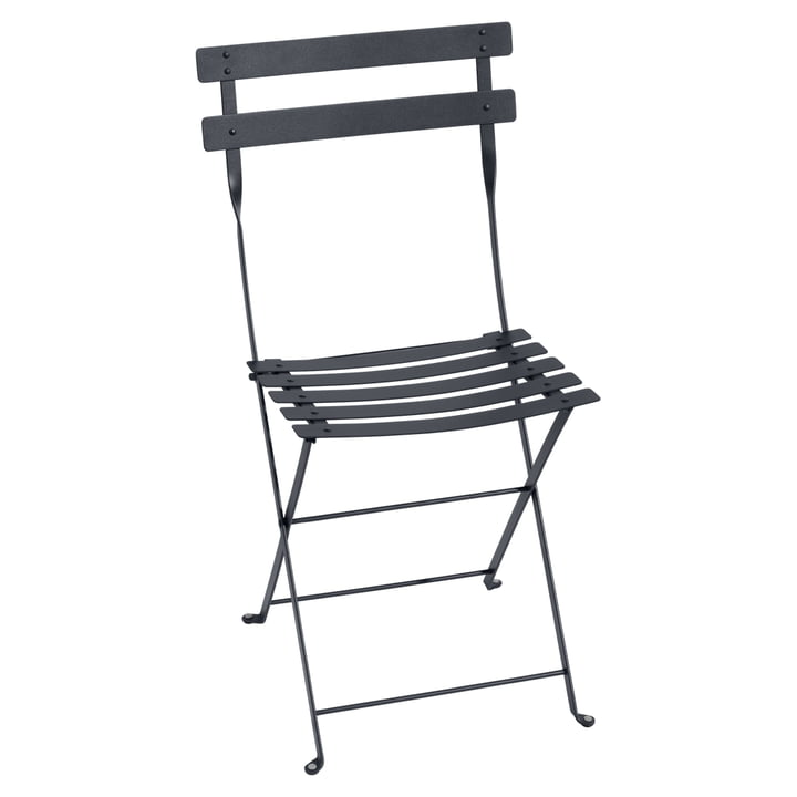 Bistro Fermob metal folding chair in anthracite