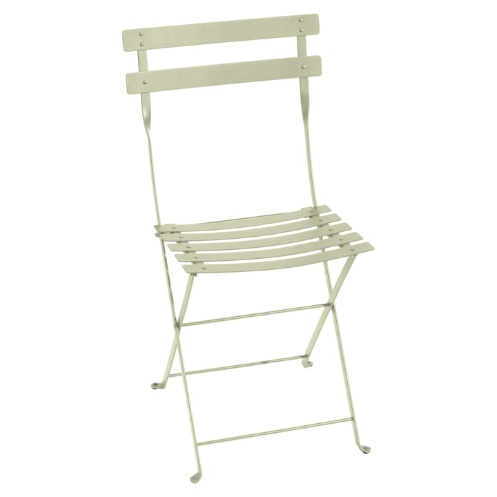 Bistro Fermob metal folding chair in lime green
