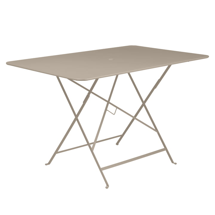 Bistro Folding Table, 117 x 77 cm by Fermob in Nutmeg