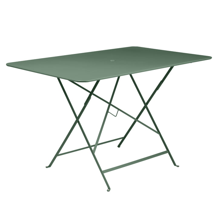 Bistro Folding Table, 117 x 77 cm by Fermob in Cedar Green