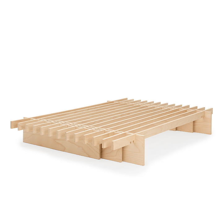 Parallel bed Tojo made from beech wood