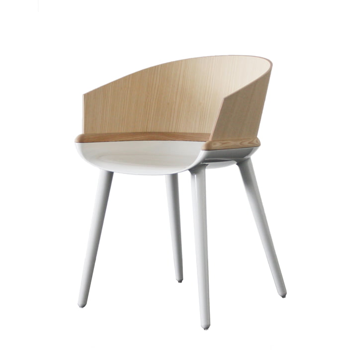 Cyborg Ply by Magis in white/natural
