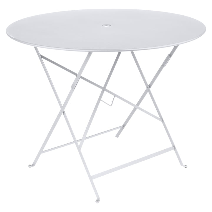 Bistro Folding table Ø 96 cm from Fermob in cotton white