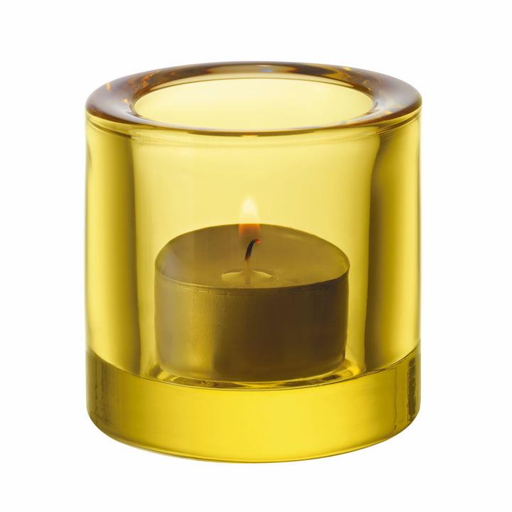 Kivi Tealight holder from Iittala in lime / lemon