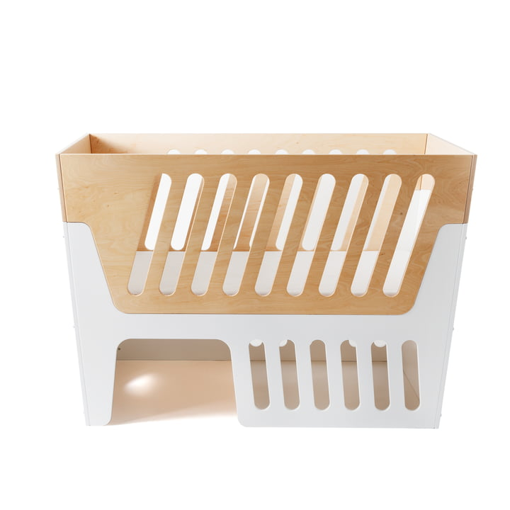 Rocky baby bed and cot by Jäll & Tofta in white and natural