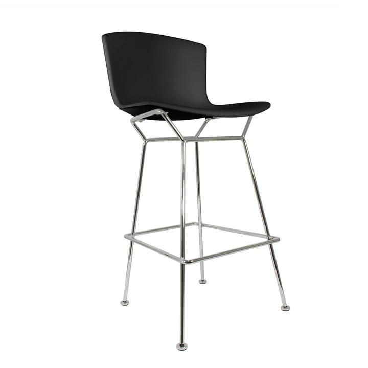 Knoll - Bertoia Plastic Bar Stool, black/chrome plated
