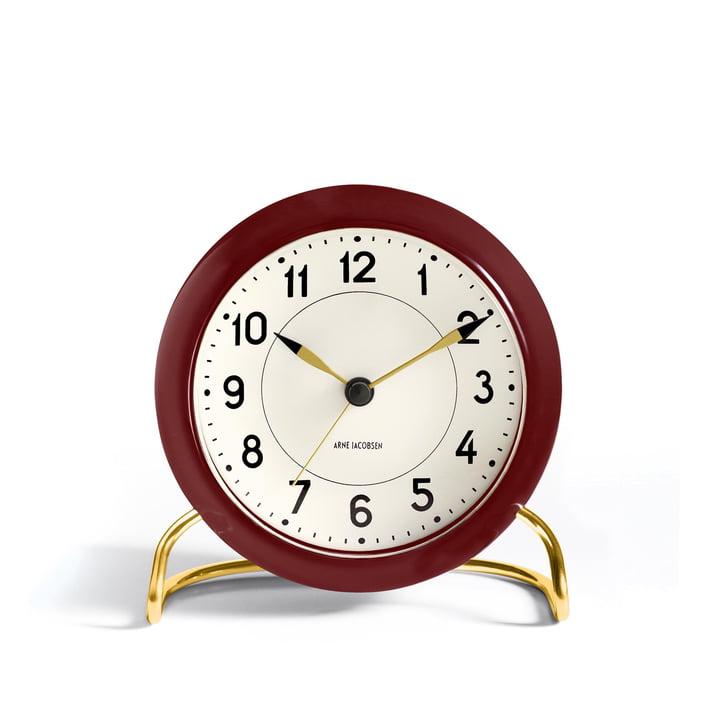 Rosendahl - AJ Station Alarm Clock, burgundy red / white
