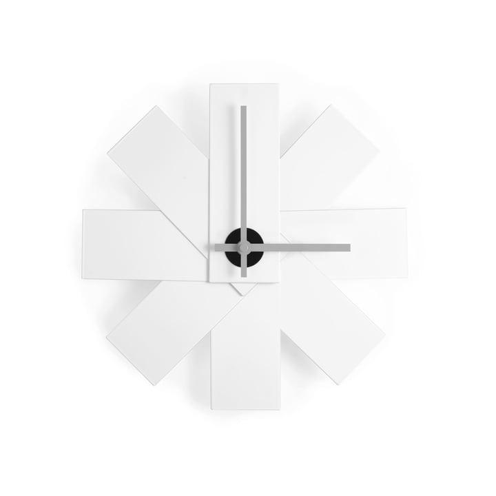 Watch Me Wall Clock by Normann Copenhagen in white