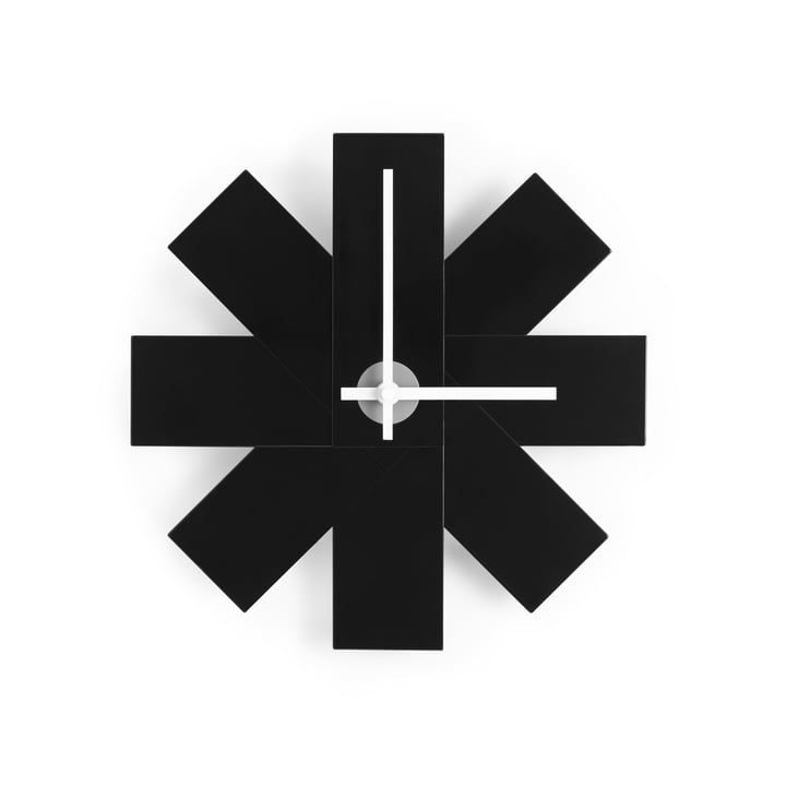 Watch Me Wall Clock by Normann Copenhagen in black