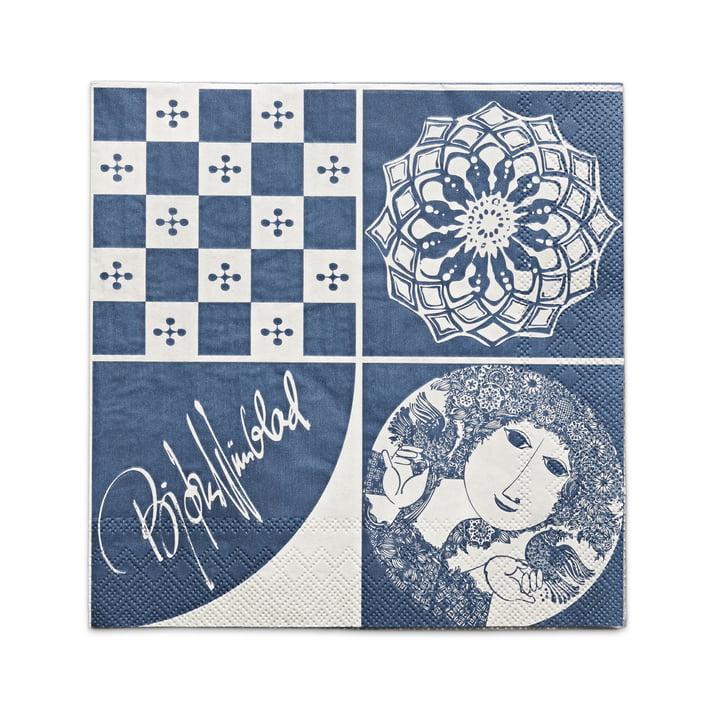 Bjørn Wiinblad - Paper Napkins 40 x 40 cm, blue