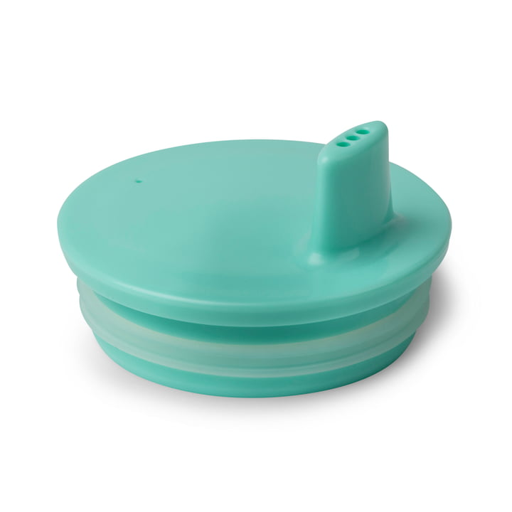 Design letters - AJ mug lid, turquoise