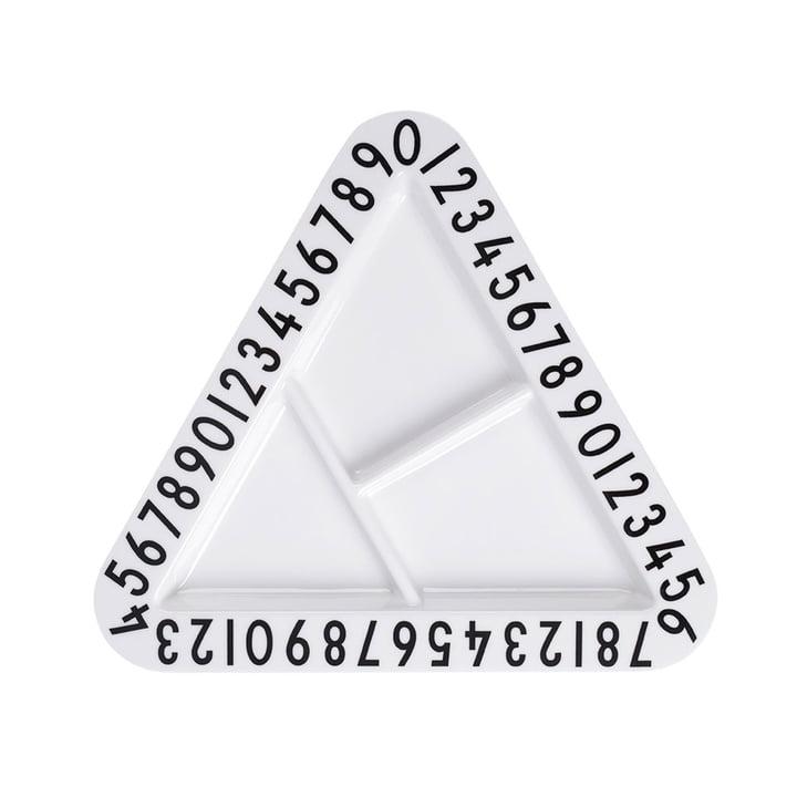 Design Letters - AJ Melamine Snack Plate, triangular