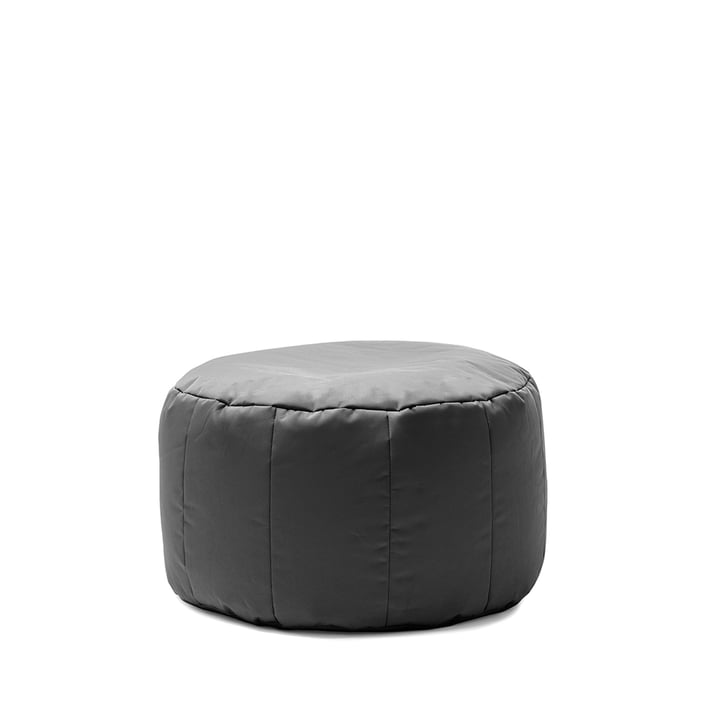 Shell Pouf Indoor by Sitting Bull in dark grey