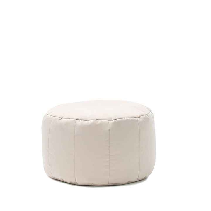 Shell Pouf Outdoor by Sitting Bull in beige