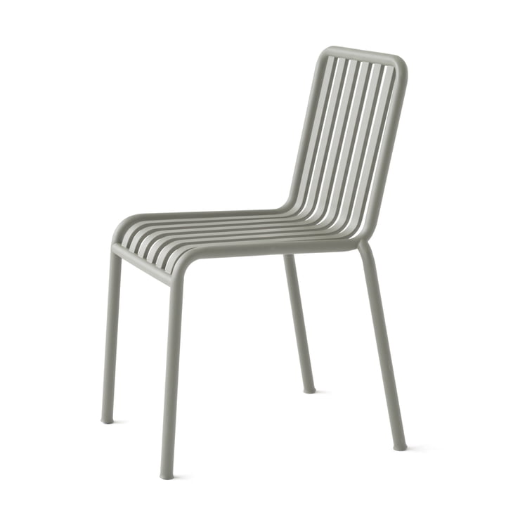 Single image of the Hay Palissade chair, light grey