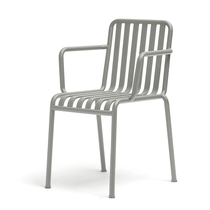 The Hay Palissade armchair in light grey