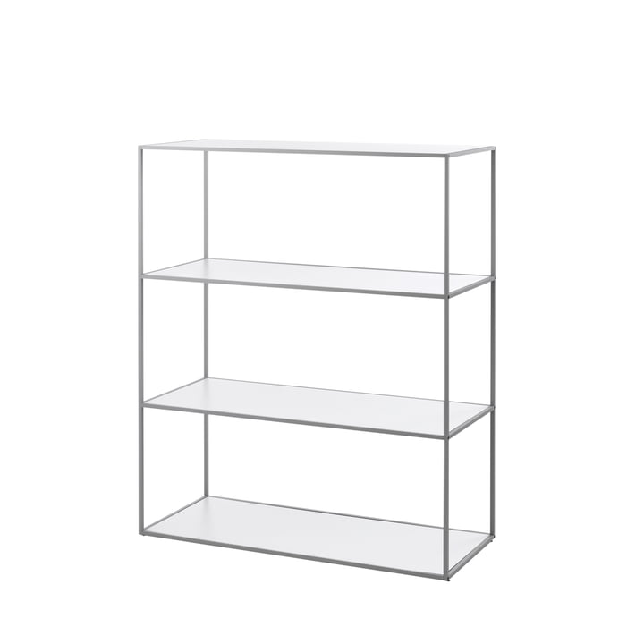 by Lassen - Twin Bookshelf large (4 shelves), grey