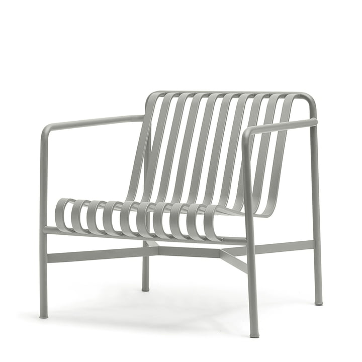 Hay - Palissade lounge chair low, light gray