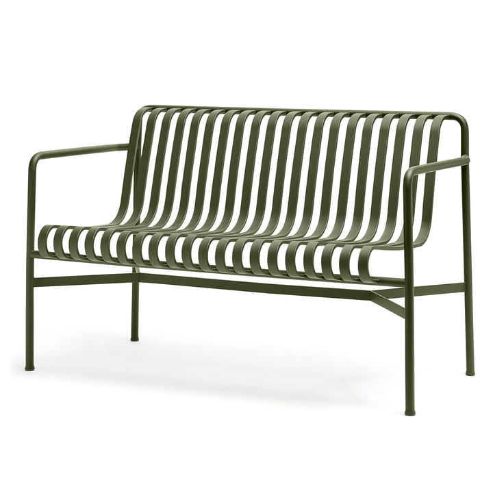 The Palissade Dining Bench by Hay in olive