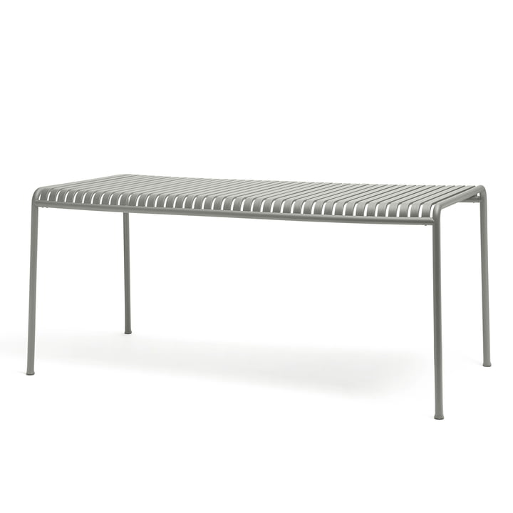 The Palissade table from Hay in light grey with a size of 160 x 80 cm.