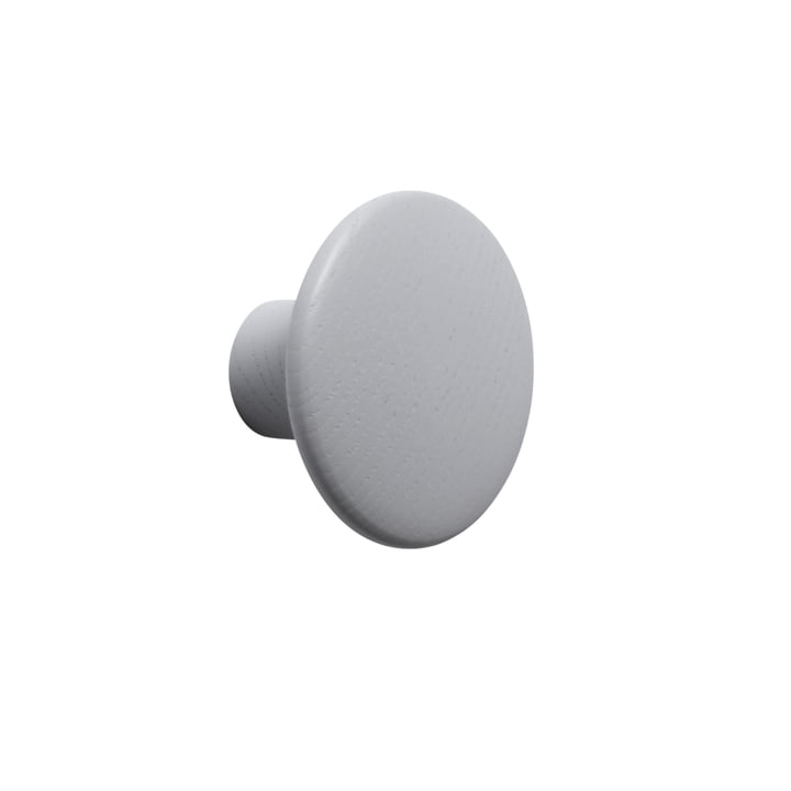 "Wall hook ""The Dots"" single small by Muuto in grey"