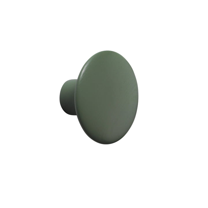 "Wall hook ""The Dots"" single small from Muuto in Dusty Green"