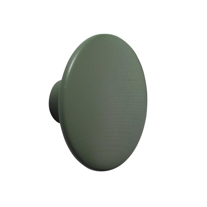 "Wall hook ""The Dots"" single medium by Muuto in dusty green"