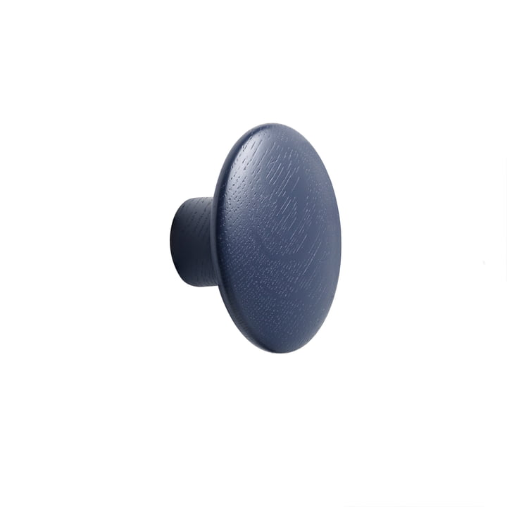 "Wall hook ""The Dots"" single small by Muuto in night blue"