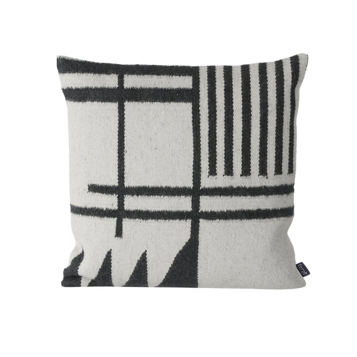 Kelim Cushion by ferm Living with Black Lines