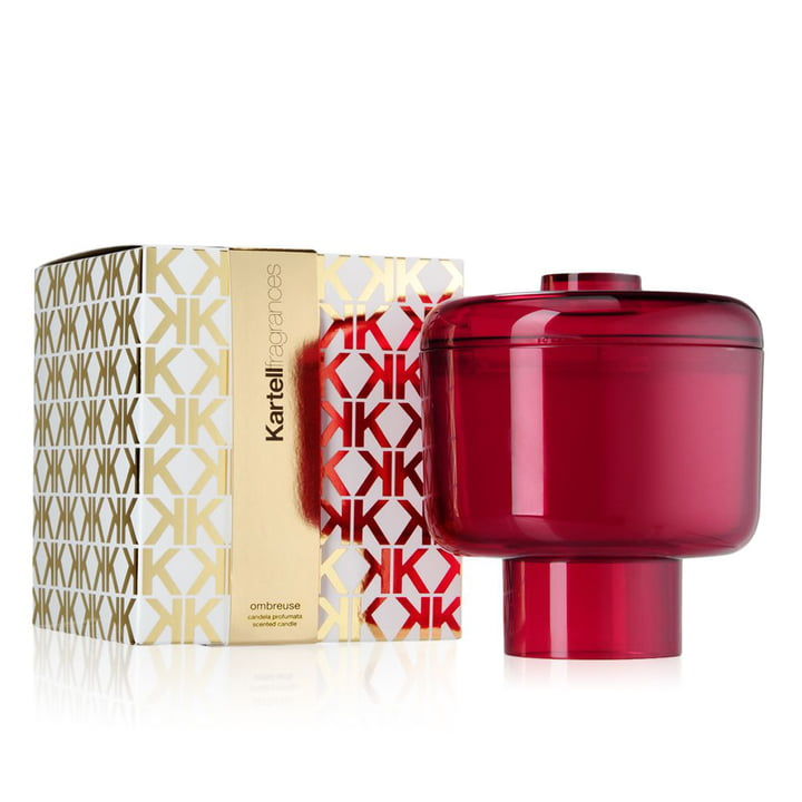 Scented candle Nikko by Kartell in pink with the fragrance Ombreuse