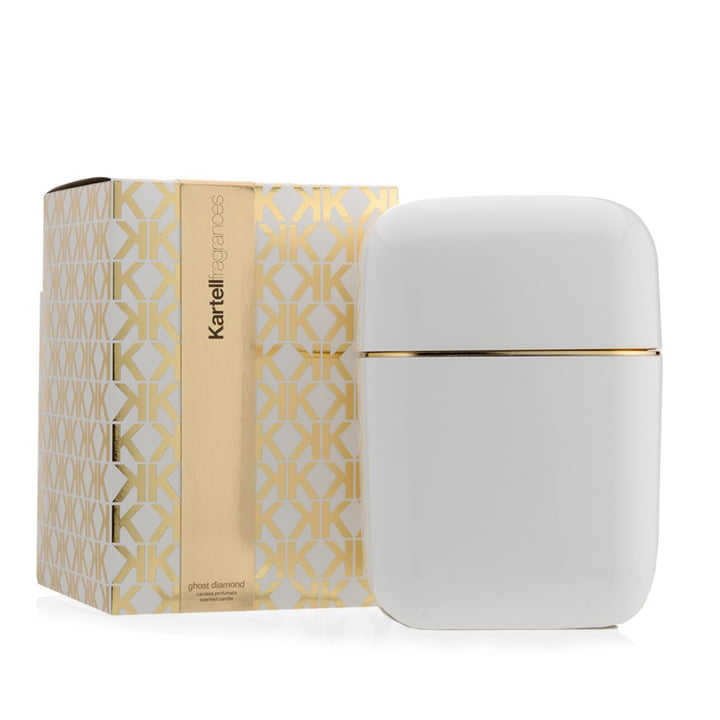 Scented candle Oyster by Kartell in white with the fragrance Ghost Diamond