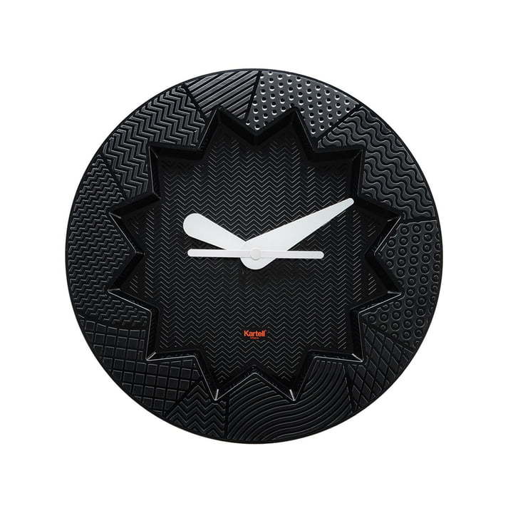 Crystal Palace wall clock by Kartell in black