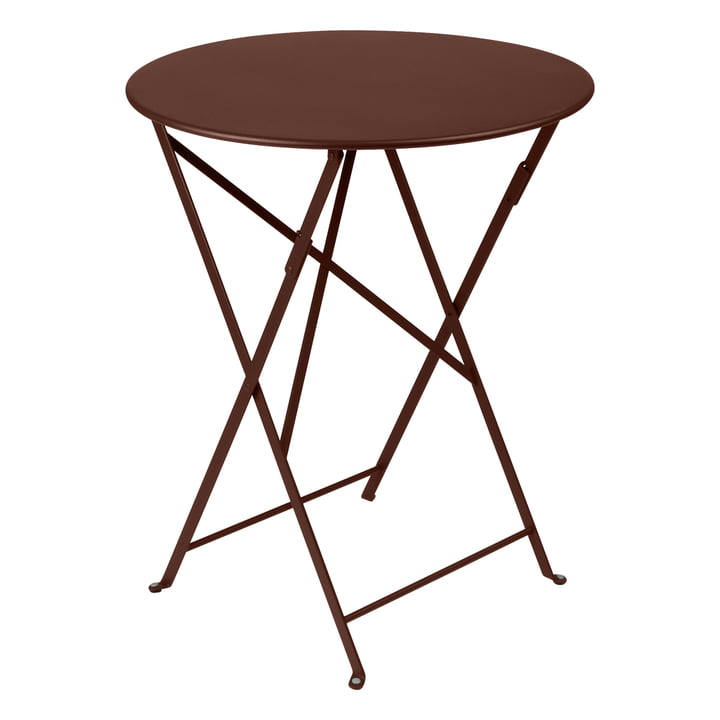 Bistro Folding table Ø 60 cm from Fermob in grate