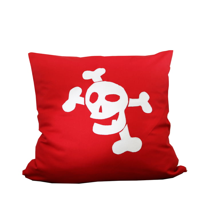 debe.deluxe Pirate Cushion by de Breuyn in red