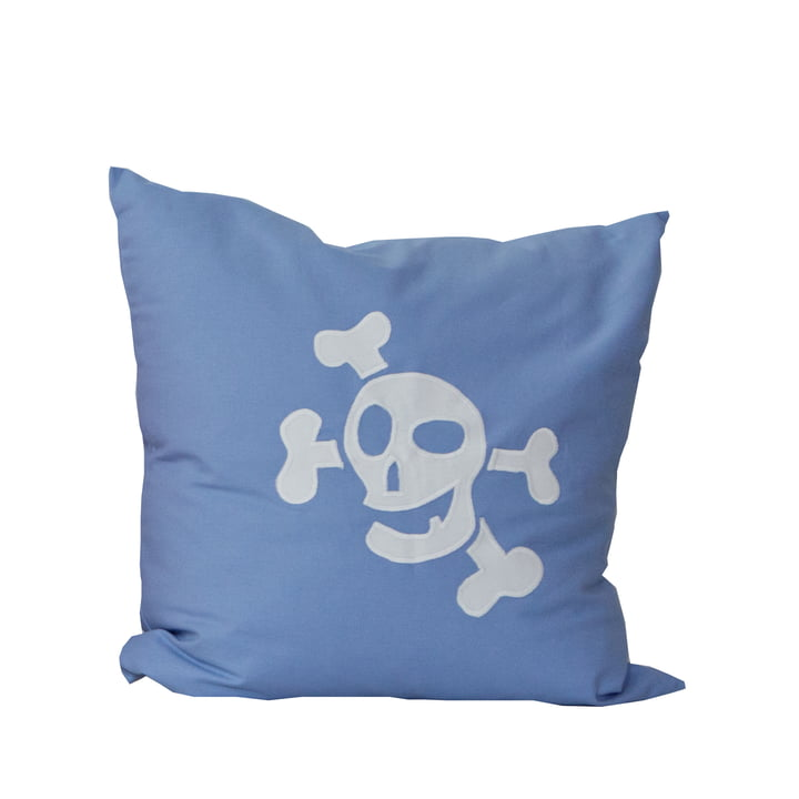debe.deluxe Pirate Cushion by de Breuyn in light blue