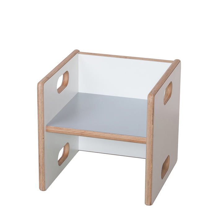debe.detail Convertible Chair by de Breuyn in solid beech in white and light grey