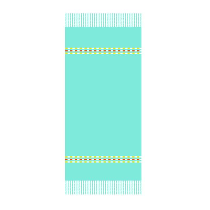 Fouta Palmyre Beach Towel 100 x 200 cm in Lagoon Blue by Fermob