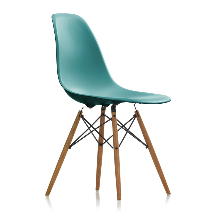 Vitra - Eames Plastic Side Chair DSW, ash honey / ocean