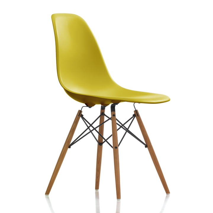 Vitra - Eames Plastic Side Chair DSW, ash honey / mustard