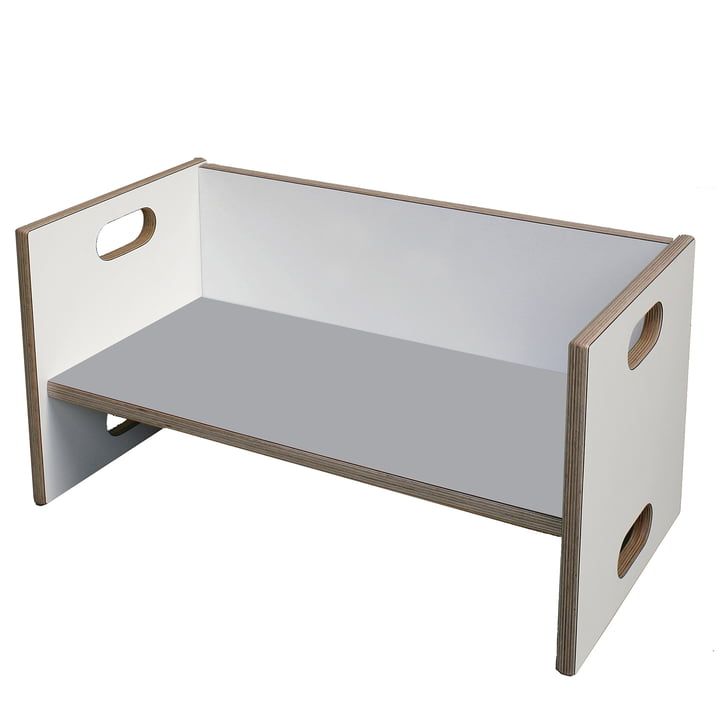 debe.detail Convertible Bench by de Breuyn in white and light grey