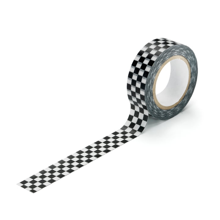 Masking Tape Checker by Vitra in black and white