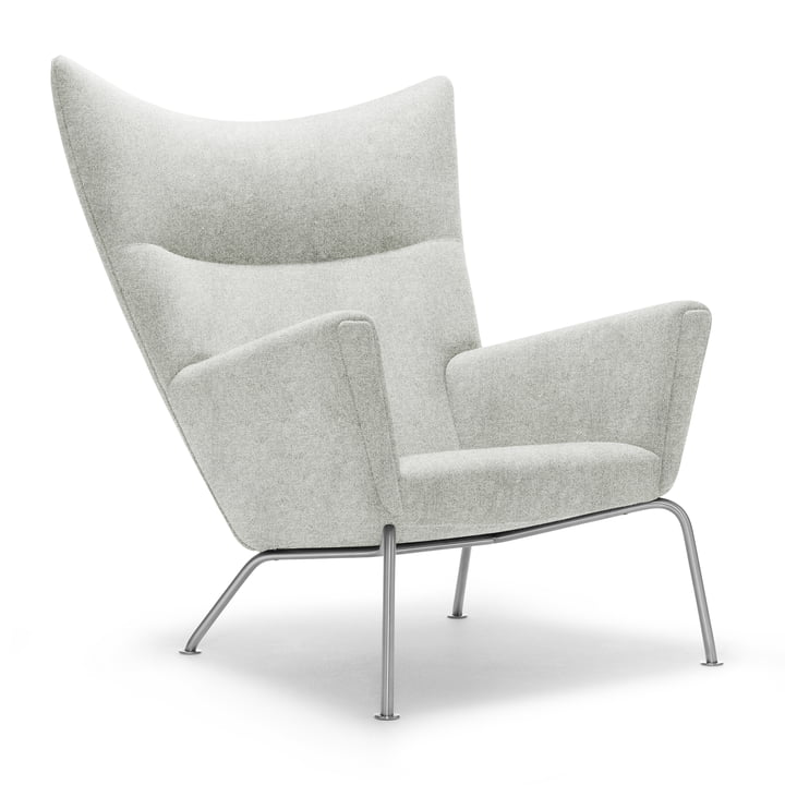 CH445 Wing Chair Divina Melange 2 Col. 120 by Carl Hansen