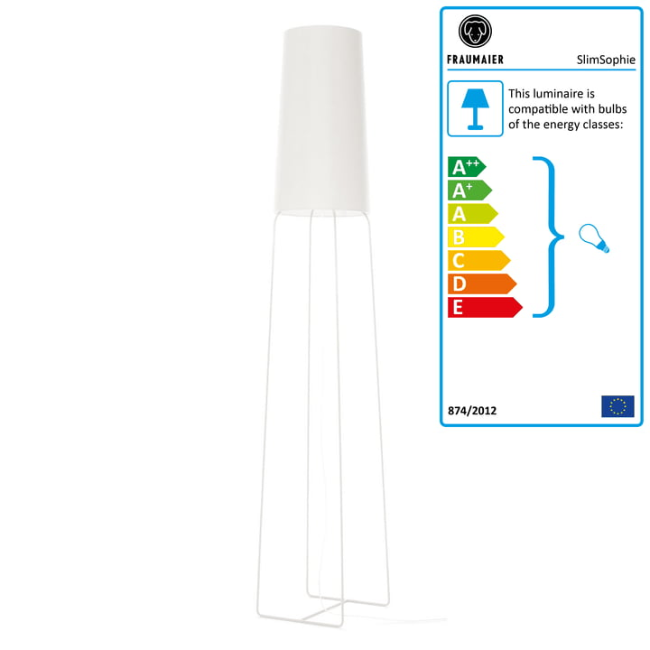 frauMaier - Slimsophie Floor Lamp LED white