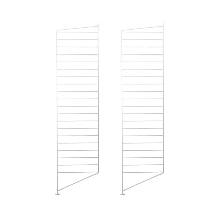 String - floor head for String (Works) shelf 115 x 30 cm, white (set of 2)