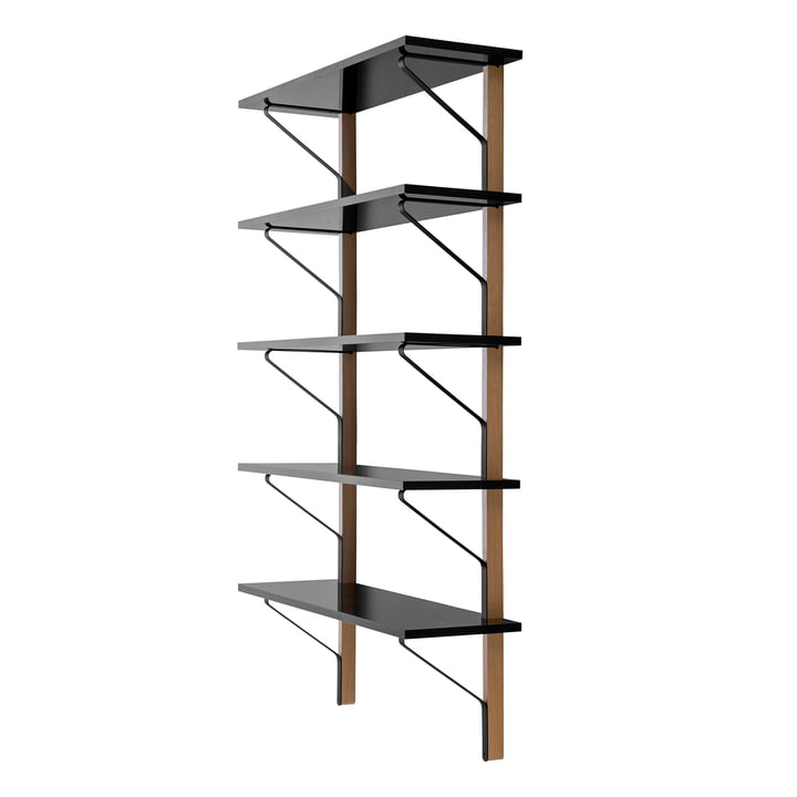 REB 009 Kaari Wall Shelf 100 x 35 cm by Artek in black from natural oak