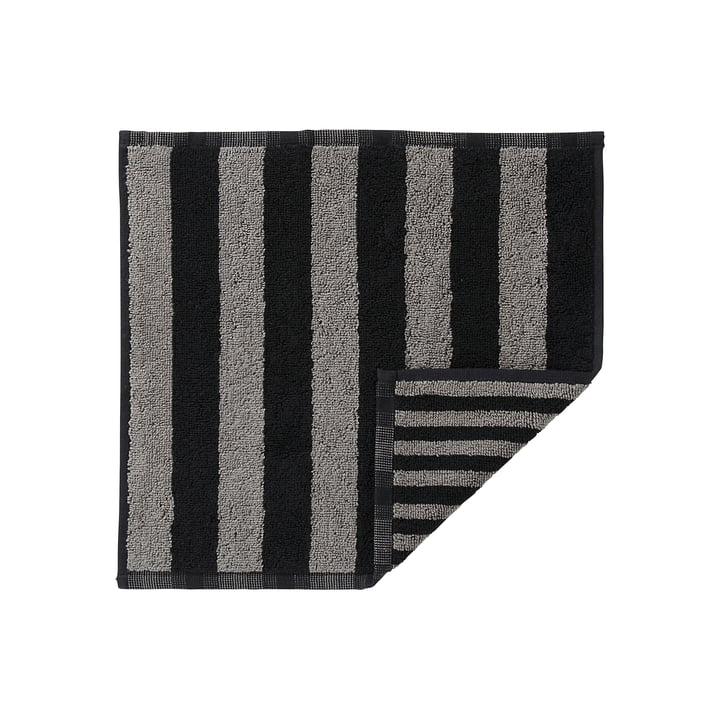 Marimekko - Kaksi Raitaa Mini Towel, grey / black 30 x 30cm