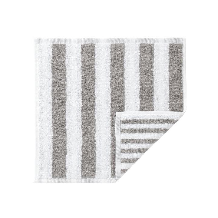 Marimekko - Kaksi Raitaa Mini Towel, white / grey 30 x 30cm